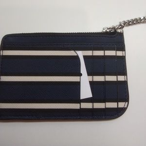 Kate Spade New Navy 1-Zip Card Holder Key Fob